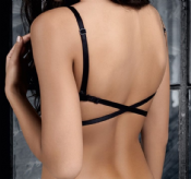"low back bra ""Kaja"" (Black)"